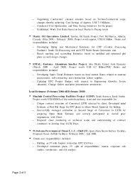 Mechanical Construction Estimating by Sr Cost Estimator Resume July 2016 Pankaj Kisnadwala