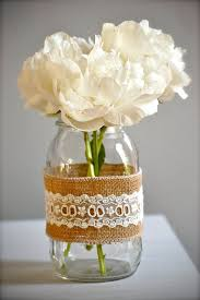 Mason Jar Vases Wedding 85 Best Wedding Burlap U0026 Lace Images On Pinterest Burlap Lace
