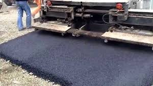 paving the road with asphalt youtube
