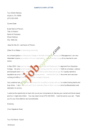 sample of cover letter for resume berathen com