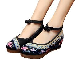 Comfortable Heels For Dancing Amazon Com Avacostume Old Beijing Womens Embroidery Summer