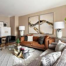 Living Room With Brown Leather Sofa Photos Hgtv