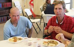lonely homeless and hungry invited to waterfront thanksgiving