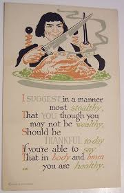 happy thanksgiving vintage humour style words and eggs
