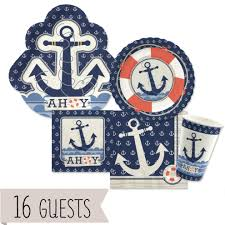 nautical party supplies anchor nautical party bundle for 16 whyrll