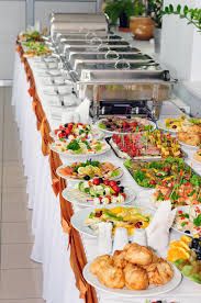 how to set a buffet table with chafing dishes catering wedding stock image image of metal chafing 48648121