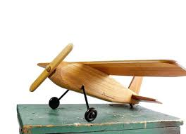 airplane home decor wooden toy airplane vintage folk art plane rustic home decor planes