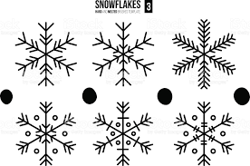 abstract outline snowflakes stock vector art 498774258 istock