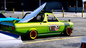 nissan hakotora datsun sunny k truck fish art add on replace gta5 mods com