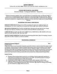 Systems Engineer Resume Examples by Junior Mechanical Engineer Resume Template Premium Resume