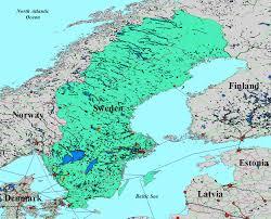 Map Sweden David Magney Sweden