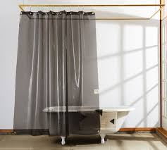Transparent Shower Curtain A Trick For Small Spaces A Cup Of Jo