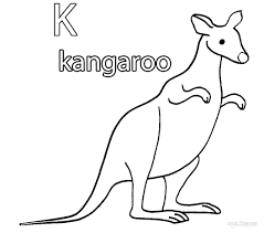 kangaroo pictures to color coloring free coloring pages