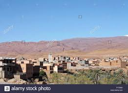 Moroccan Houses by Panoramic View Of Moroccan Houses In The Tinghir Oases In Morocco