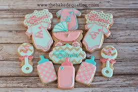 baby shower cookies baby shower cookies girl pics ba shower cookies the baked equation
