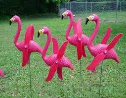 otc mini pink flamingoes whirly gig twirling wings