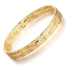 aliexpress buy new arrival fashion shiny gold plated opk women luxury gold color bangles bracelet fashion wedding