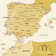 Map Of Spain With Cities by Ibertours Travel Spain