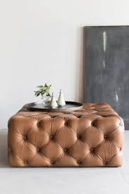 Leather Ottoman Tufted Awesome Best 25 Tufted Leather Ottoman Ideas On Pinterest Large