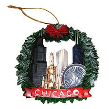 chicago ornament set of 2 great chicago gifts