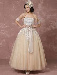 Vintage Ball Gown Strapless Tulle Wedding Dress With Detachable Vintage Wedding Dresses U0026 Gowns For Sale In 2017 Milanoo Com