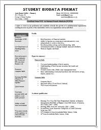 resume format exle biodata format for application sle biodata form