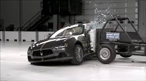 black maserati sedan 2014 maserati ghibli crash test youtube
