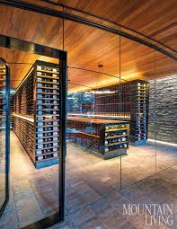in floor wine cellar a sleek slopeside cellar