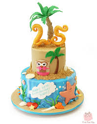 21st birthday tropical themed cake birthday cakes