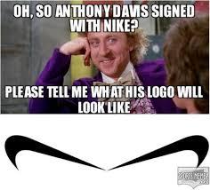 Anthony Meme - the anthony davis swoosh meme