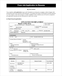 Job Application Resume by 29 Resume Templates Free U0026 Premium Templates