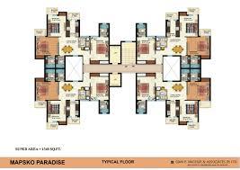 floor plan mapsko paradise sec 83 gurgaon mapsko builders