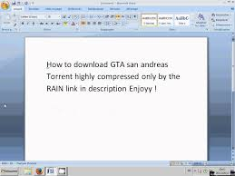 gta san apk torrent how to gta san andreas torrent highly compressed only by