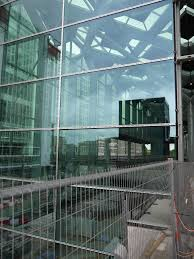 file a view on the new glass wall of central station the hague