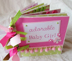 baby girl scrapbook album mini album premade scrapbook paper bag book adorable baby girl