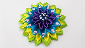 satin ribbon flowers diy craft for kanzashi satin ribbon flower hair accessory