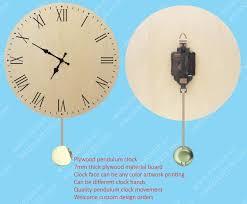 plywood clock plywood wall clock plywood pendulum clock custom