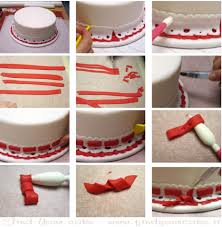 Lace Cake Decorating Techniques Step By Step Faux Ribbon Insertion With Fondant Techniques