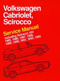 volkswagen cabriolet scirocco service manual 1985 1986 1987