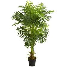 5 stalk hawaii palm artificial tree h 5 ft w 11 in d