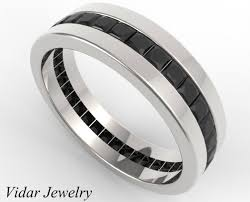 mens princess cut diamonds wedding ring vidar jewelry unique s princess cut eternity black diamonds wedding band