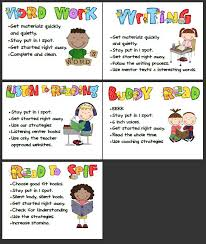 the daily five printables key learning miss hoar