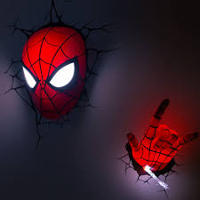 3d deco superhero wall lights the avengers hand spider man mask hand style wall l 3d deco led