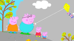 peppa pig flying a kite coloring pages peppa pig coloring book 1