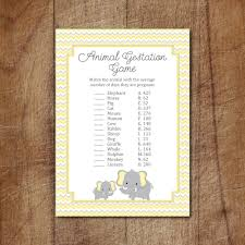 elephant baby shower animal gestation game printable elephant
