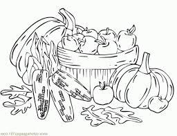 výsledek obrázku pro fall pumpkin corn vegetable coloring autumn