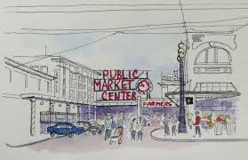urban sketchers seattle gaining perspective at pike place