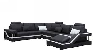 Leather Sectional Sofa Sleeper Sectional Sofa Gripping Cool Black Leather Sectional Sofa For