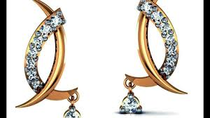 real gold earrings real gold and diamonds earrings designer gold and diamond earrings