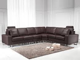 canap brun canapé d angle réversible canapé en cuir brun sofa